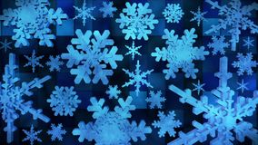 Broadcast Spinning Snow Flakes 03 stock video footage