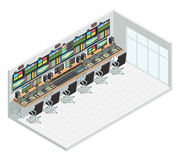 Broadcast Studio Isometric Interior Royalty Free Stock Image