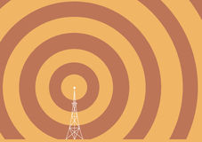 Broadcast tower vector illustration
