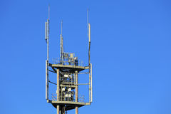 Broadcast tower. With clear blue sky Royalty Free Stock Image