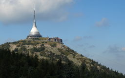 Broadcast tower and hotel. In town Liberec Stock Images