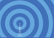 Broadcast Tower Illustration Royalty Free Stock Images