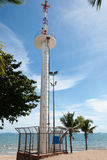 Broadcast Tower. On Sea Background Stock Photography