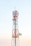 Broadcast tower. On sky background Royalty Free Stock Photo