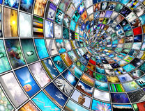Broadcast Tunnel Royalty Free Stock Image