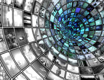 Broadcast Tunnel. Composed entirely of my own images and all figures created with software no model release needed royalty free stock photo