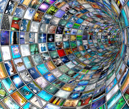 Broadcast Tunnel Royalty Free Stock Images