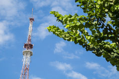 Broadcast TV antenna for radio and television signal. Stock Photography
