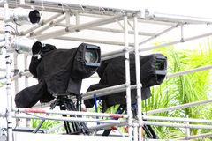 Broadcast TV Camera Royalty Free Stock Images
