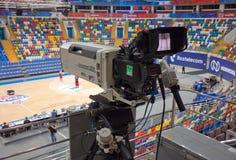 Broadcast TV camera royalty free stock image