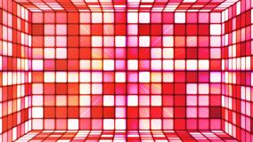 Broadcast Twinkling Hi-Tech Cubes Room, Red, Abstract, Loopable, 4K