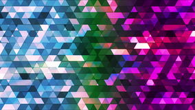 Broadcast Twinkling Polygon Hi-Tech Triangles 11 stock footage