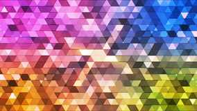 Broadcast Twinkling Polygon Hi-Tech Triangles 16 stock footage