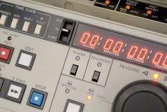Broadcast vcr recorder. A broadcast beta sp recorder royalty free stock images