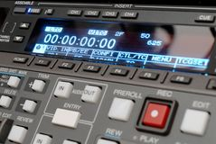 Broadcast vcr recorder. A high tech broadcast digi beta recorder royalty free stock image