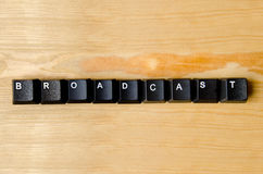 Broadcast word stock photography