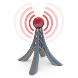 Broadcasting. 3d tower broadcasting a wireless signal Royalty Free Stock Photos