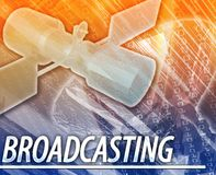 Broadcasting Abstract concept digital illustration Royalty Free Stock Photo