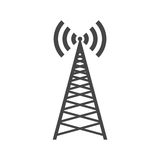 Broadcasting antenna icon sign. Icon Royalty Free Stock Photography