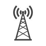 Broadcasting antenna icon sign. Simple vector icon Royalty Free Stock Photos