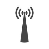 Broadcasting antenna icon sign. Vector icon Royalty Free Stock Photos
