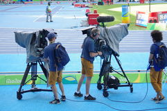 Broadcasting camera crew Royalty Free Stock Photography