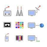 Broadcasting icons  Stock Image
