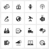 Broadcasting and Journalism Icons Stock Images