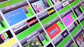 Broadcasting monitor demo closeup, Royalty Free Stock Photos