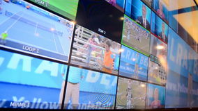 Broadcasting monitor demo during NAB Show 2014, Las Vegas, USA, Stock Photo