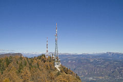 Broadcasting station Penegal in South Tyrol Royalty Free Stock Photography