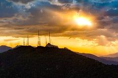 Broadcasting and telecommunication station Royalty Free Stock Image