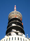 Broadcasting tower. For television and radio royalty free stock photography