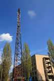 Broadcasting tower. With a lot of TV, radio and cellular antennas Stock Photos
