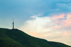 Broadcasting tower on a mountain top, Sofia, Bulgaria Stock Photo