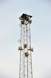 Broadcasting tower speakers. Stock Image