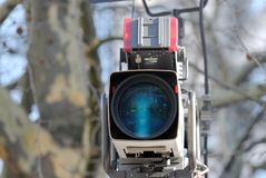 broadcastkamera Arkivbild