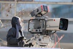 broadcastkamera Arkivfoto