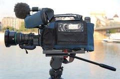 broadcastkamerakvalitet Royaltyfria Foton