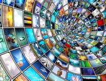 broadcasttunnel Royaltyfri Bild