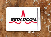 Broadcom company logo editorial stock image  Image of semiconductor