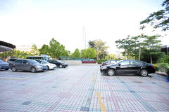 broaded parking lot Stock Images