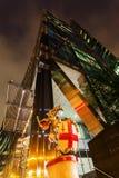 Broadgate塔在伦敦,英国,在晚上 免版税库存照片