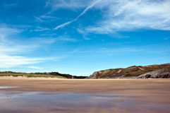 Broadhaven Sand Dunes & Beach Stock Photos