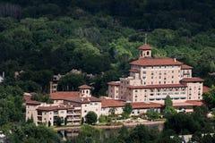 Broadmoor hotell och semesterort Colorado Springs arkivfoto