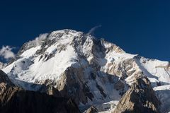 Broadpeak mountain view from Concordia camp, K2 trek, Pakistan. Asia royalty free stock images