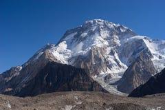 Broadpeak w ranku, K2 wędrówka, Pakistan Obrazy Stock