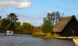 broads norfolk royaltyfria bilder