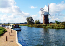 broads norfolk Arkivfoto