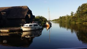 broads norfolk Royaltyfri Bild